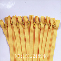 50pcs ( 12 Inch ) 30 cm Golden Nylon Coil Zippers Tailor Sewer Craft Crafter's &FGDQRS #3 Closed End