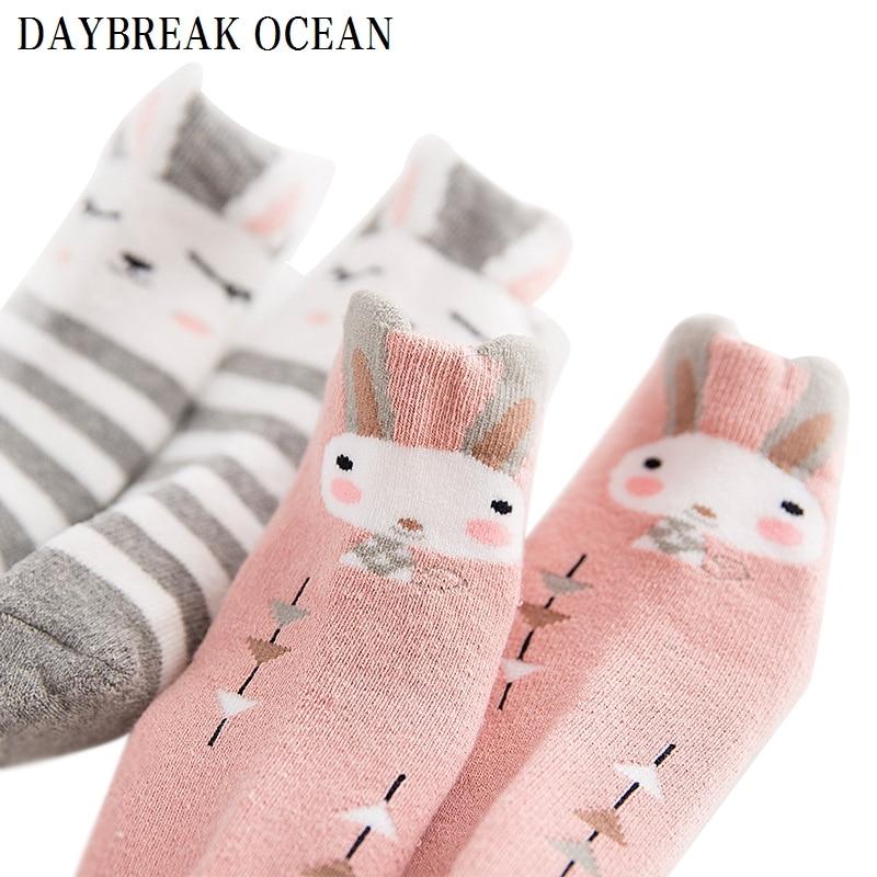 2017 Cartoon Thicken Terry 1-12Y Soft Cotton Warm Socks For Toddler Baby Autumn Winter Kids Infant Boys Girls Children's Socks