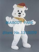 mascot New Arrival High Quality Holiday White Bear MASCOT Costumes Cartoon Polar Bear carnival Fancy Dress Kits suit