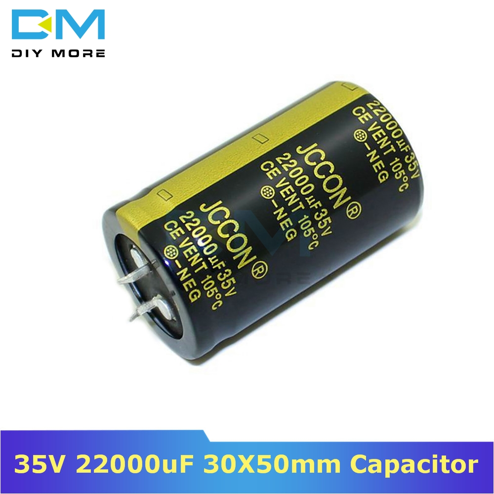 35V 22000uF 30X50mm 30x50 Aluminum Electrolytic Capacitor High Frequency Low Impedance Through Hole Capacitor 30*50mm Diymore