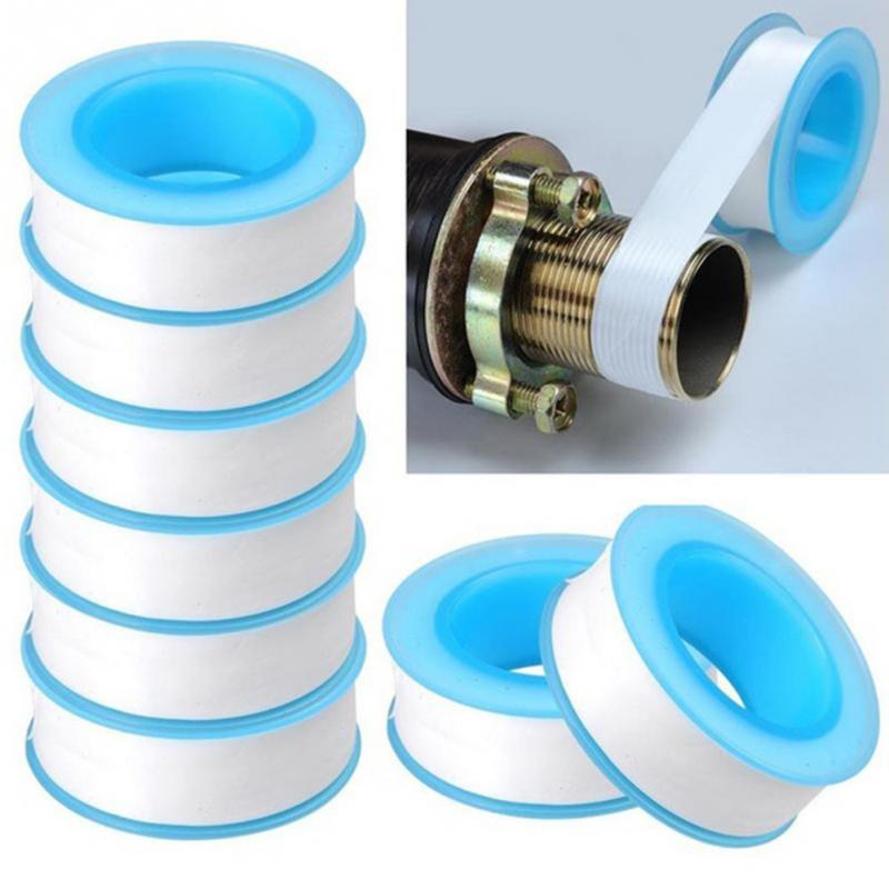 10Pcs Thread Tape Roll Plumbing Plumber Fitting For Water Pipe Sealing Household
