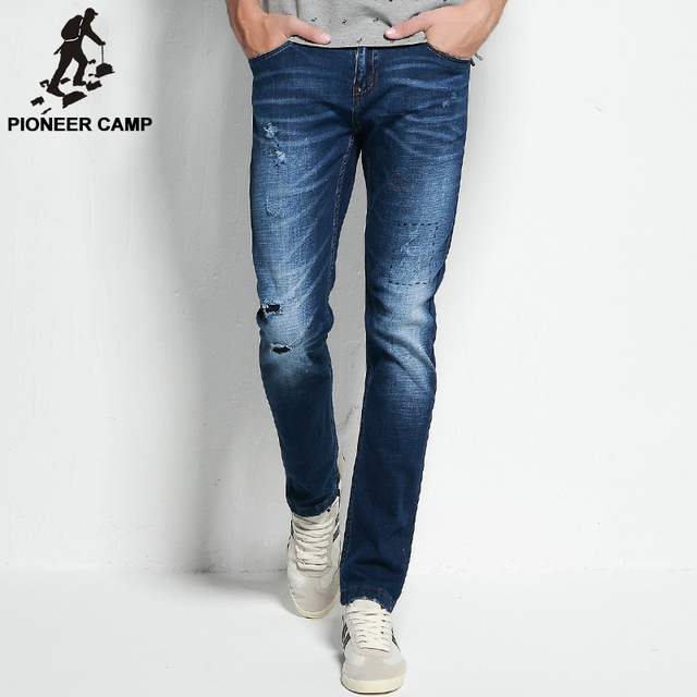 Pioneer camp 2017 zerrissenen jeans herren markenkleidung mode stretch denim  hosen top qualität casual slim fit 0ff817d8a8
