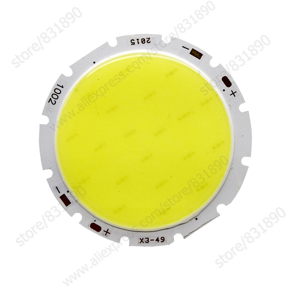 100PC High Power LED Beads 10W 12W 15W 20W 30W COB Chips 42mm LED diode SMD LEDs 100LM/W CRI70 lamps for LED Bulb ceiling By dhl