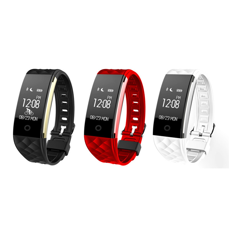 S2 IP67 Waterproof Bluetooth Smart Wristband Heart Rate Monitor Smart Fitness Bracelet For Android IOS Phone