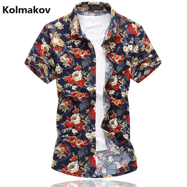 55323caa74c KOLMAKOV 2017 summer new style shirt men s casual fashion 100% cotton  shirts men high quality flannel shirts big size M-6XL