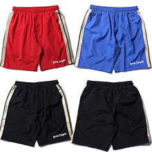 Palm Angels Shorts High Quality Mesh Sportswear Pants Elastic Waist Knee Length Joggers Men Short Pants Palm Angels