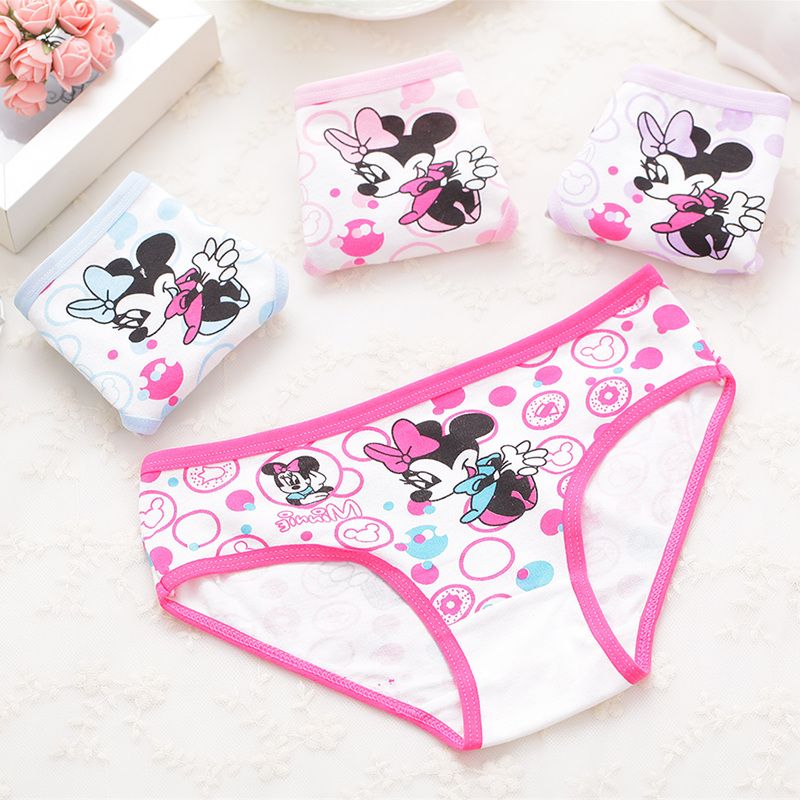 Girls Underwear Shorts Briefs Kids Panties Baby Cartoon Kitty Minnie Cotton Children title=