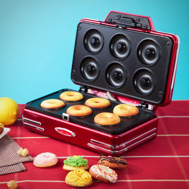 electric home family birthday christmas gift us waffle maker mini donut machine in waffle makers. Black Bedroom Furniture Sets. Home Design Ideas