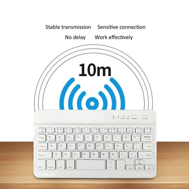 Slim Mini Bluetooth Wireless Keyboard For Android Tablet iPad Apple iPhone Smart Phone iOS Windows Portable Keyboard Ergonomic 3