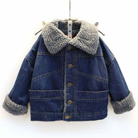 2017 cowboy Cotton Fleece Jacket for Boys Autumn Warm Outerwear Children's Boy Clothing Toddler Coats Newborn Baby Jackets 2 7T