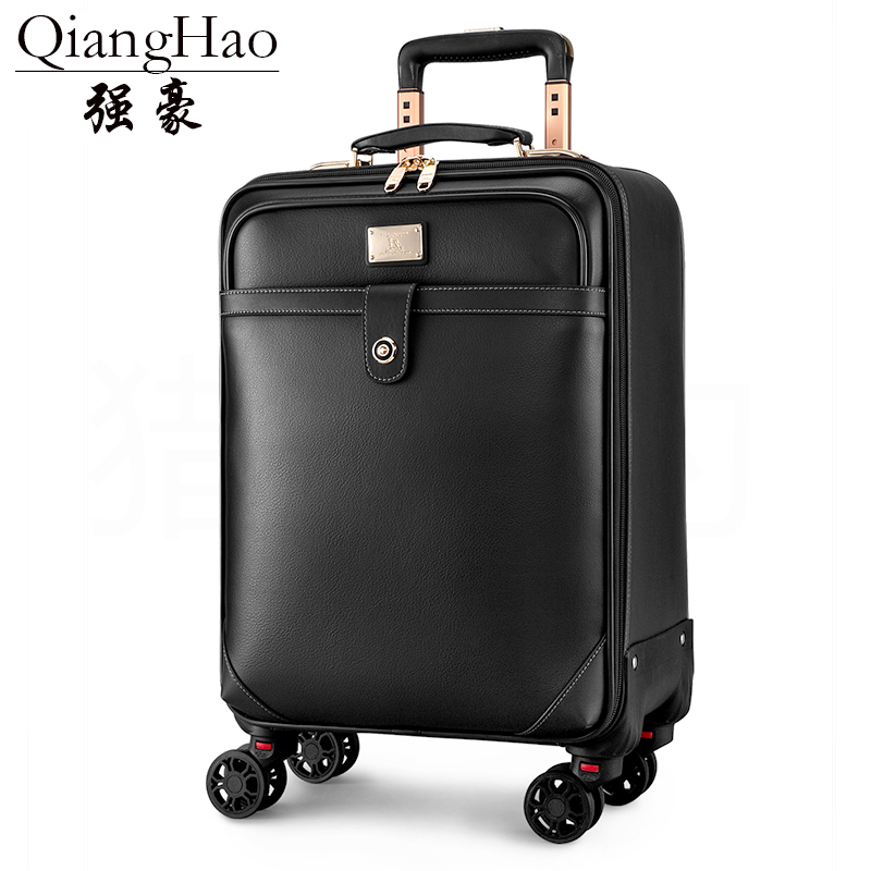 987e42abd45c Unisex Business Travel Rolling Luggage Spinner Wheels 18