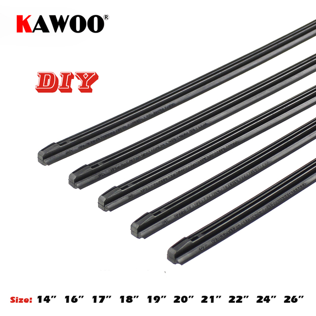 KAWOO Car Vehicle Insert Rubber strip Wiper Blade (Refill) 8mm Soft 14