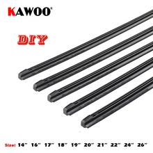 "KAWOO Auto Voertuig Insert Rubber strip Wisser (Refill) 8mm Soft 14 ""16"" 17 ""18"" 19 ""20"" 21 ""22"" 24 ""26"" 28 ""1 pcs Accessoires(China)"