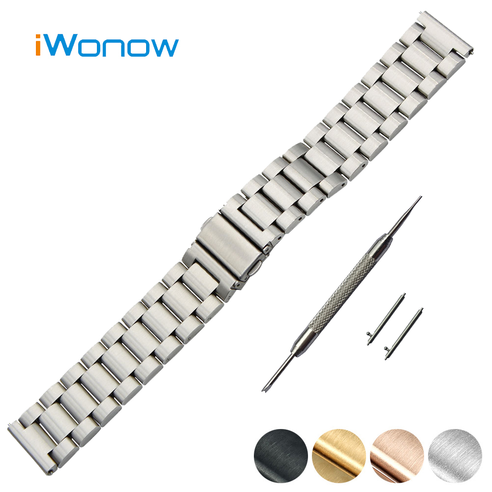 Stainless Steel Quick Release Watch Band 18mm 20mm for DW Daniel Wellington Folding Buckle Strap Wrist Belt Bracelet +Spring Bar