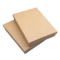 Big Jewelry Set Box 15 21 4cm Retail 128g Kraft Paper Pedant Packing Necklace Box With