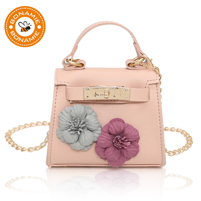 BONAMIE Fashion Women Girl Mini Shoulder Bag Lady Handmade Flowers Party Evening Handbag ...