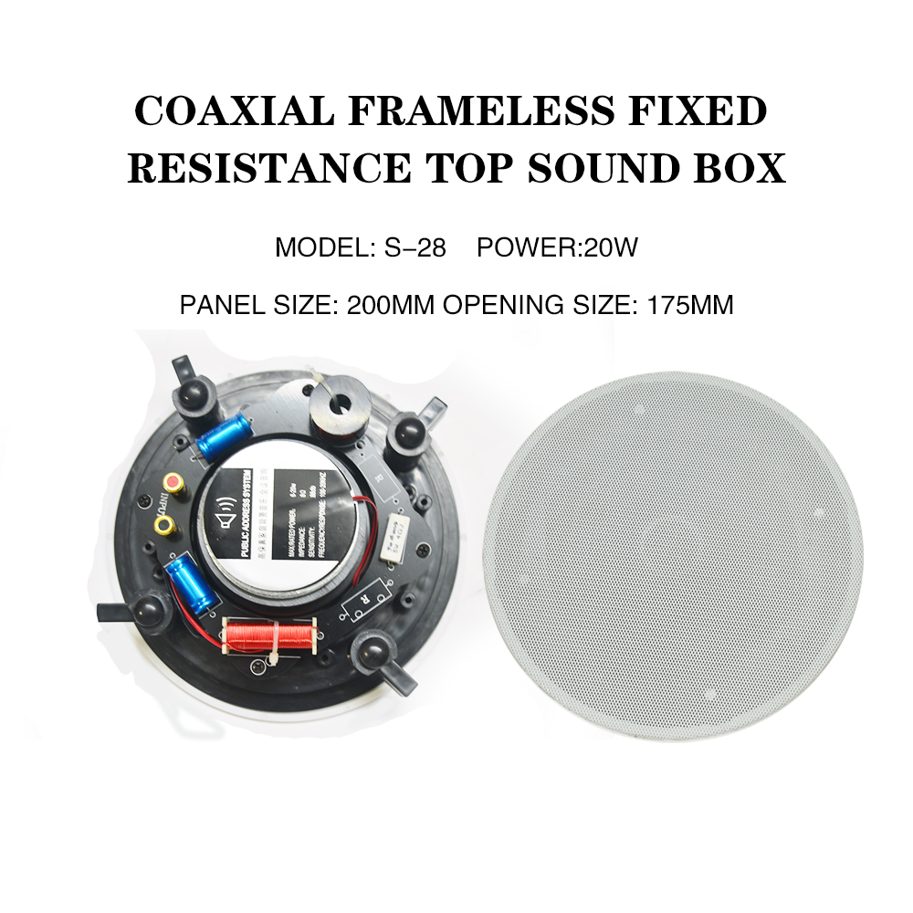 Good quality Frameless coaxial sound coaxial Ohm Ceiling Speaker home audio background music systems Good quality Frameless coaxial sound coaxial Ohm Ceiling Speaker home audio background music systems