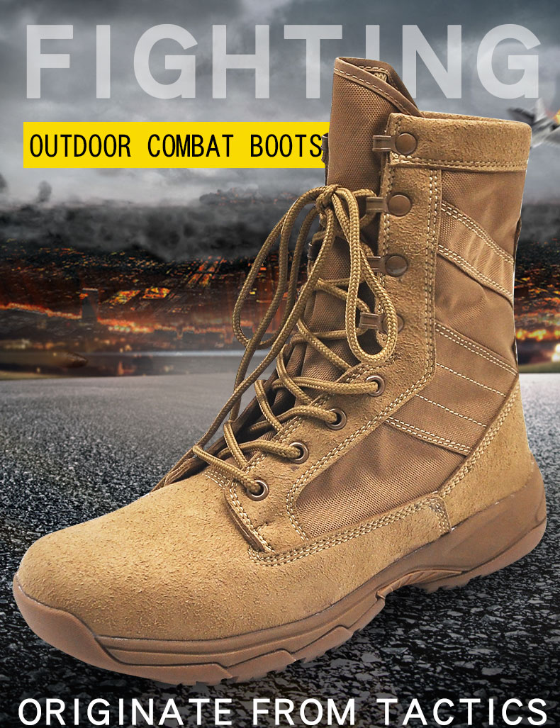 18091f84b65 HOT SALE] CQB.FURY 8 inches Winter brown Mens Army boots tactical ...