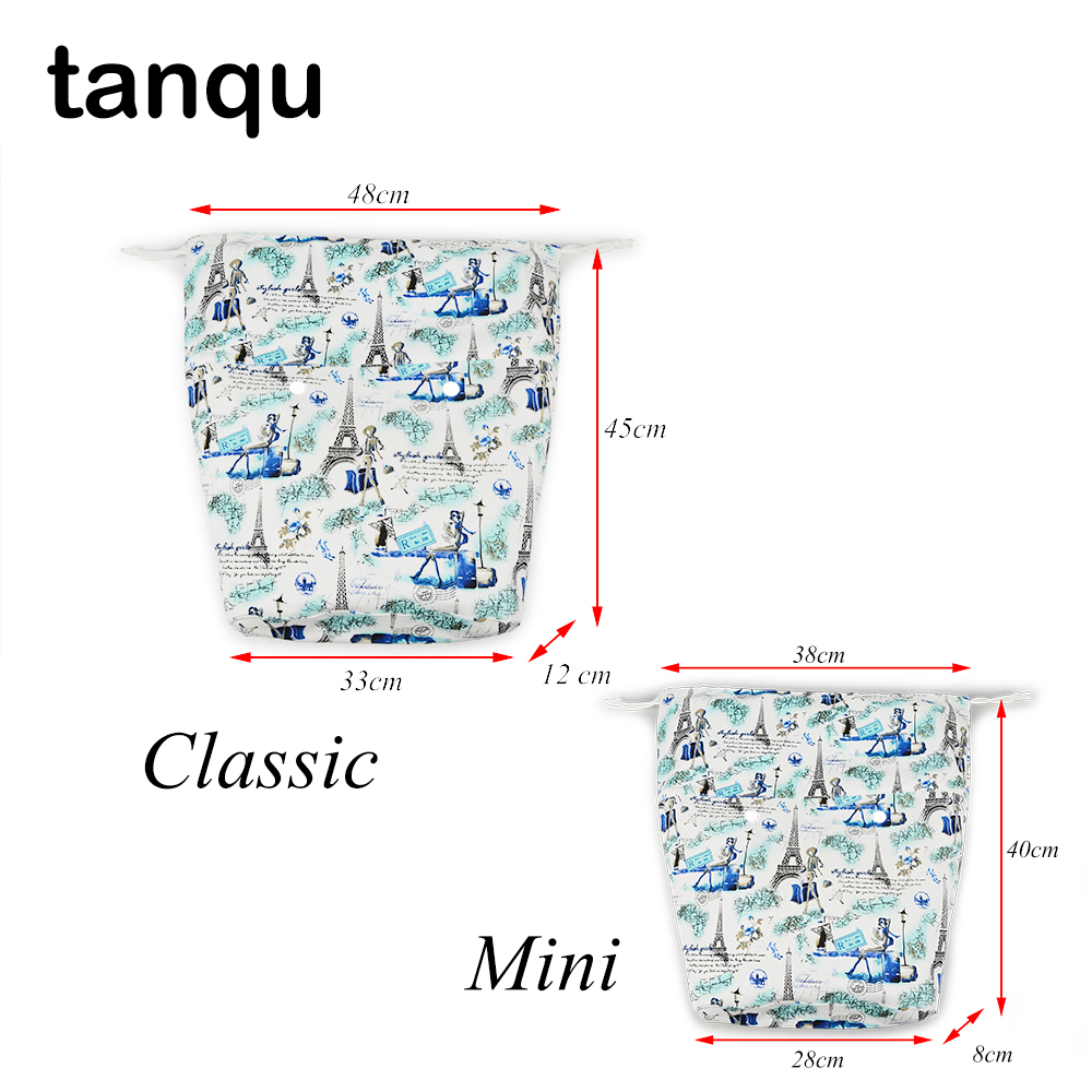 tanqu Large Capacity Lining Insert for Big Mini Obag Classic Mini Drawstring Colorful Inner Canvas Fabric Bag for O Bag new upgraded drawstring canvas fabric inner pocket lining for obasket obag handbag insert for insert o basket o bag