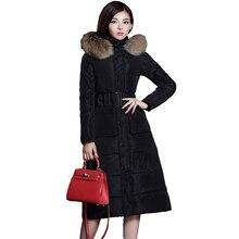 X-Long 2016 New Winter Parka Women Thicken Knee-Length Jacket Padded Warm Outerwear Coat Women Hooded Casaco Feminina YC554