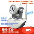 Cámara IP inalámbrica 720 P HD wifi tarjeta de memoria sd de Audio Mega Alarma Onvif P2P APLICACIÓN GRATUITA de la Red PTZ IR-CUT de La Visión Nocturna de Grabación