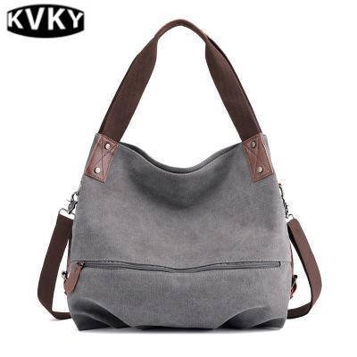 Canvas Bag Wild Ladies Portable Messenger Bag Solid Color Spring And Summer Shoulder Bag