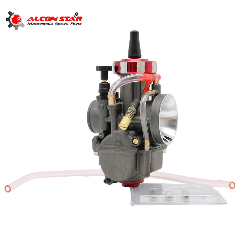 Alconstar- Motocicleta Carburador Carburador PWK 28mm 30mm 32mm 34mm Power Jet Carb Scooter Motocross Dirt Pit Bike ATV Racing