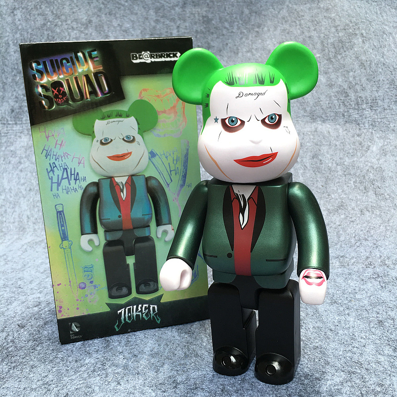 400% Bearbrick Cosplay The Joker Suicide Squad Be@rbrick PVC Action Figures Fashion Gifts Model Toys 28CM high quality oversize 52cm bearbrick be rbrick matt diy pvc action figure toys bearbrick blocks vinyl doll 3 color optional