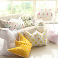 Fashion Princess Prince Crown Cloud Lolipop Ice Cream Print Children Kids Room Toy Playing Doll Cushion