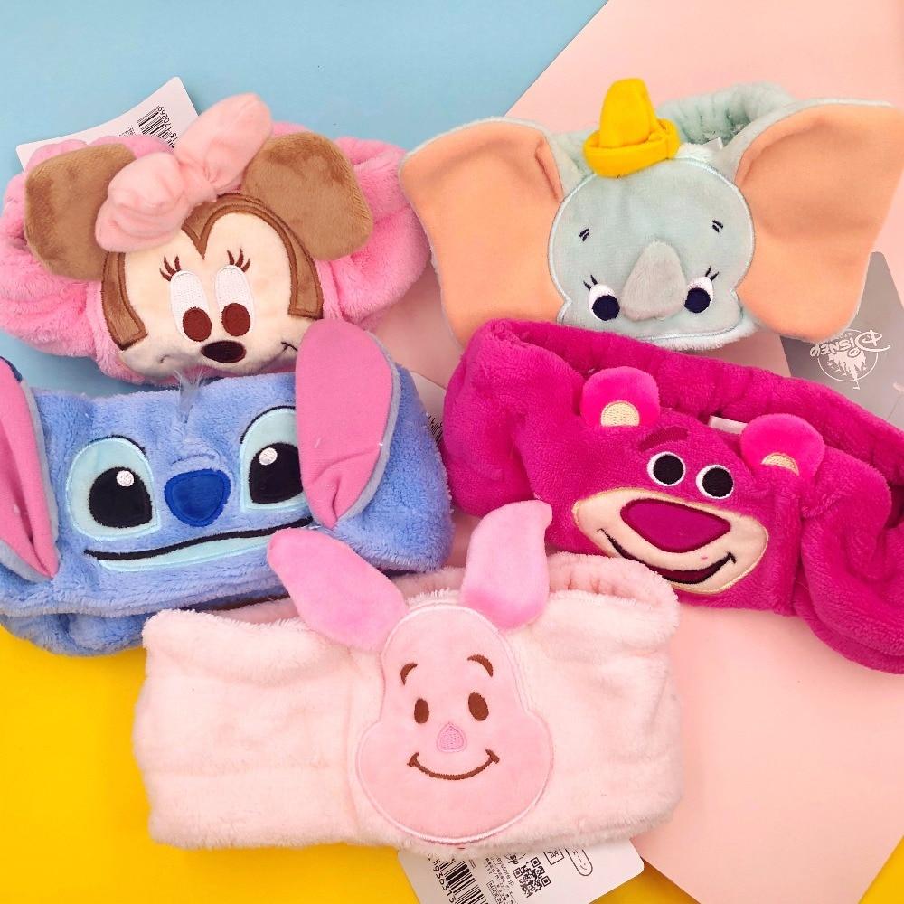 Strawberry Bear Dumbo Elephant Stitch Minnie Girl Hairband Headband Hair Hoop Makeup Accessory Lovely Cartoon Plush Toy Gift