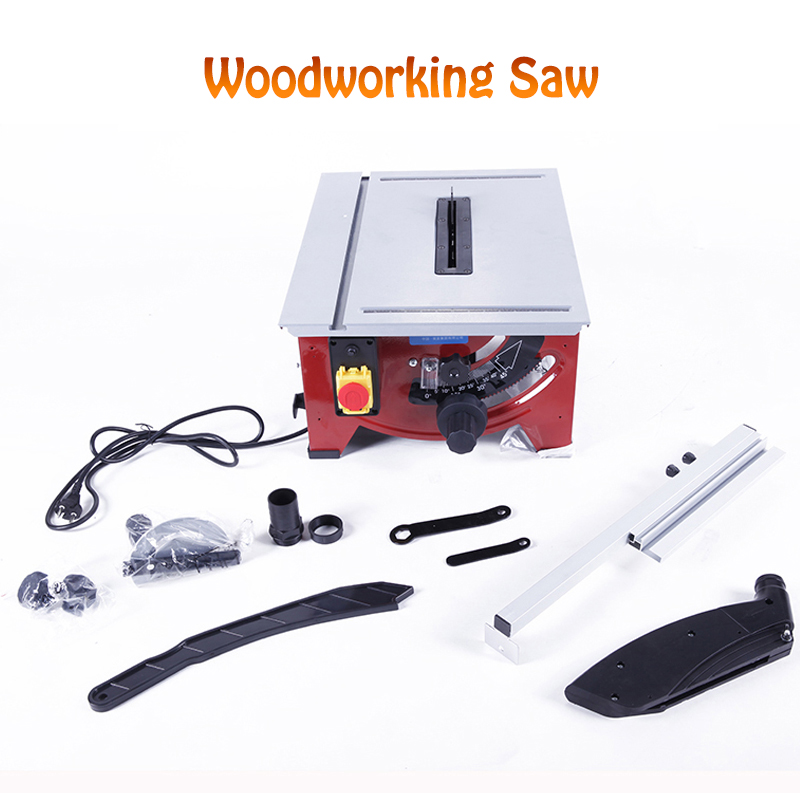 Woodworking Table Saw Multi-function Precision Angle Adjusting Miter Saw Cutting Machine Woodworking Electric Saw 900W JF72101 kalibr pte 1500 210prm mitre saw for aluminum used cutting saw machine laser miter saw
