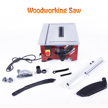 Woodworking Table Saw Multi-function Precision Angle Adjusting Miter Saw Cutting Machine Woodworking Electric Saw 900W JF72101 miter saw table redverg rd msu255 1200 power 1800 w no load speed 4500 rpm tilt 45 °