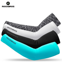 ROCKBROS Ice Fabric Cycling Arm Sleeve Warmers Basketball Sleeve Running Arm Sleeve Bicycle Arm warmers Camping Summer Sports