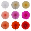 1Pcs Small 10cm Tissue Paper Fans Flowers Pompom Balls Round Lanterns DIY Craft Hanging Small Flower Wedding Party Decoration 7Z
