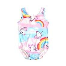 New Toddler Unicorn children swim for girl one piece baby girls unicorn kid bathing swimming costume 0341