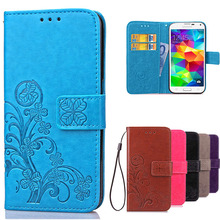 S5 i9600 Luxury Leather Wallet Cover Case For Samsung Galaxy S5 Case Stand Card Holder Phone Bag Flip Cover For Samsung S5 Case