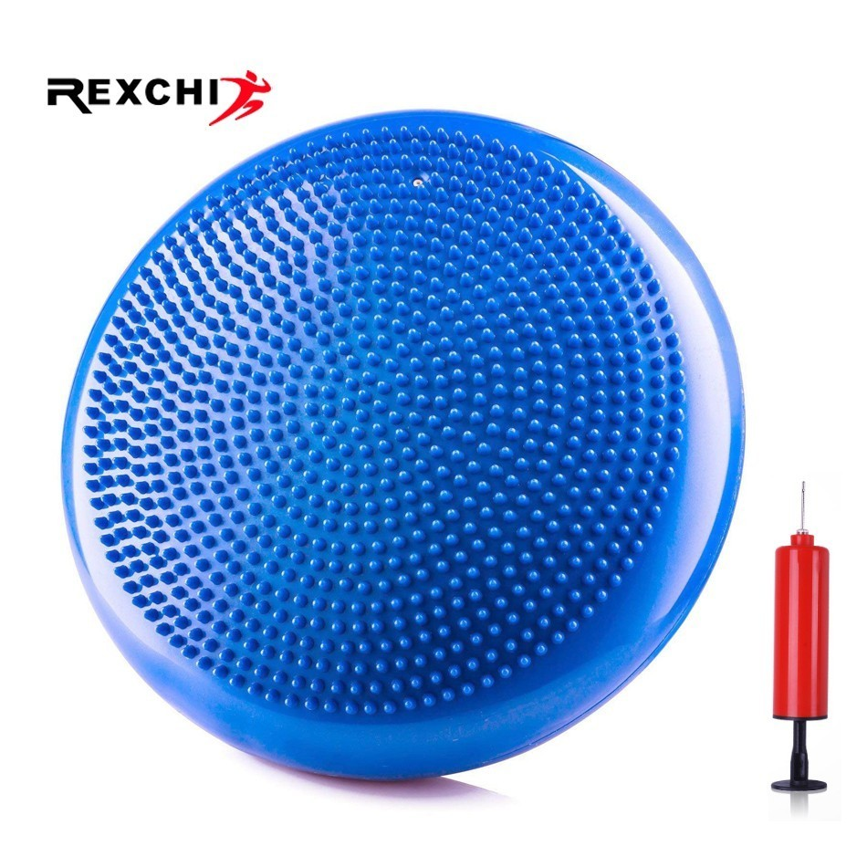 Sports Yoga Inflatable Massage Acupressure Mat Balance Pad Pilates Cushion for Fitness Gym Soft Thicken PVC Exercise Equipment