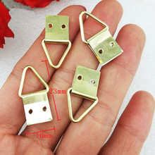US $1.37 31% OFF|Triangle Ring Hanging Picture Oil Painting Mirror Frame Mini Hooks Hangers With Screws,Yellow Color,10*23mm,20Pcs-in Hooks from Home Improvement on Aliexpress.com | Alibaba Group
