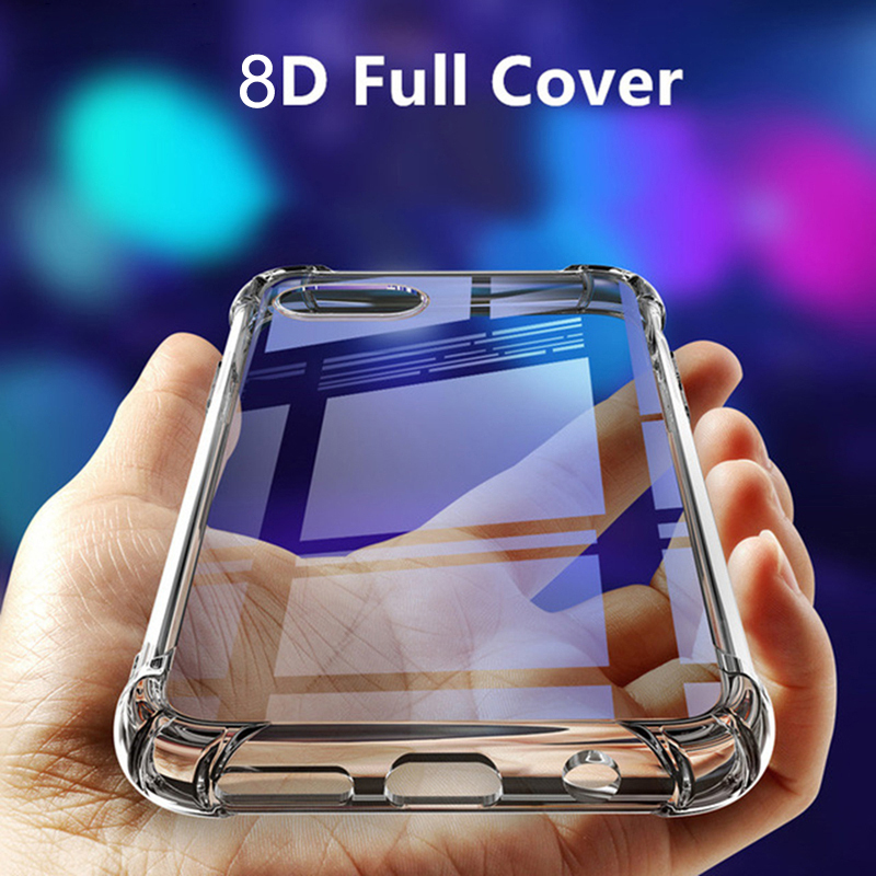 Air Cushion Case For OPPO Realme X2 Pro XT 5 3 Pro 3i X Lite C1 C2 2 Q A9X A5 A3 A9 2020 RENO 2 2Z A11 Clear TPU Shockproof Case image