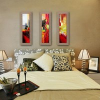 3 Panels Modern Abstract Painting On Linen High Quality Wall Art Picture Home Decor For Living