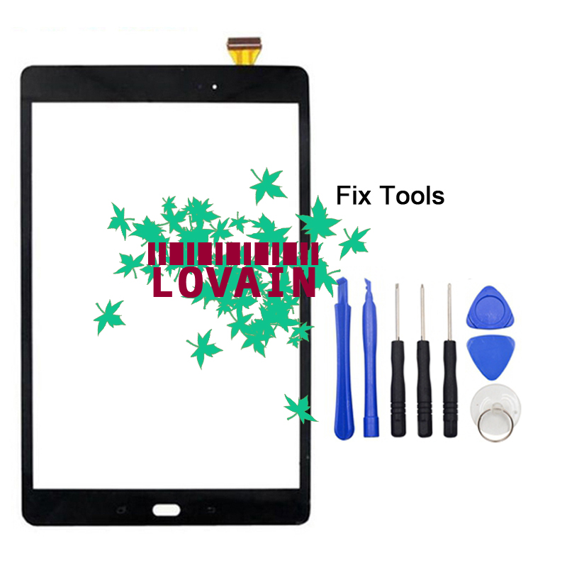 LOVAIN 1PCS Original Black (Tested) For Samsung Galaxy Tab A 10.1 2016 S Pen P580 P585 Touch Screen Digitizer Glass Panel+Tools