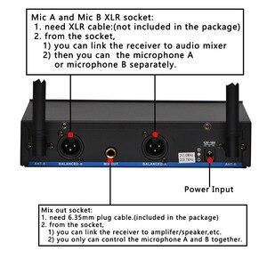 Image 3 - Lomeho LO V52 2 דרך VHF מתכת כף יד משדר דינמי 2 ערוצים כנסיית ועידה קריוקי מסיבת DJ אלחוטי מיקרופון