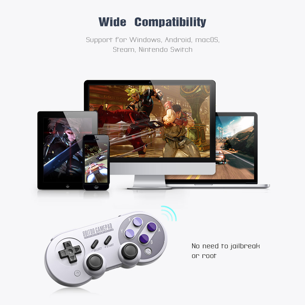 Official 8BitDo SN30 Pro Wireless Bluetooth Gamepad Controller with Joystick for Windows Android macOS Nintendo Switch Steam 17