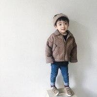 Children Girl Jeans Jacket Kids Hooded Jacket Outerwear Winter Coat Plus Velet Long Denim Warm Outerwear