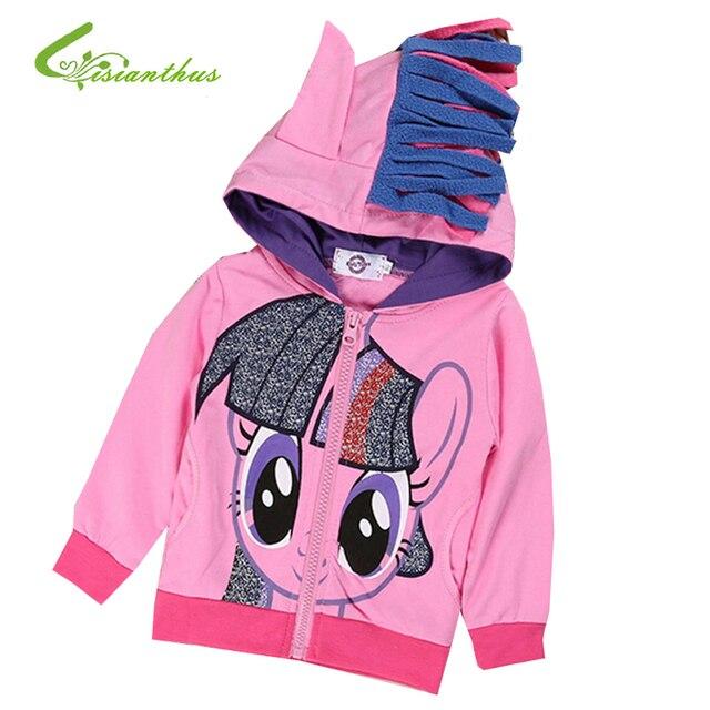 Девушка с капюшоном с крылья назад мультфильм куртка толстовка маленькая пони весна осень дети верхняя одежда в шляпе новинка