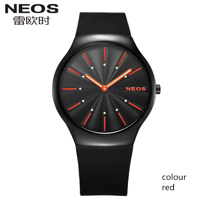 NEOS Fashion Trend Men's Watches Simple Leisure Luminous Students Slim Sports Quartz Male Waterproof Watch цена и фото