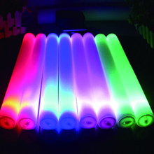 LED Foam glow stick Colorful Flashing Batons 48cm Red Green Blue Light-Up Stick Festival Party Decoration neon party 20 pcs/lot