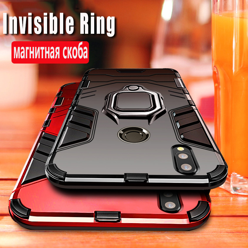 Shockproof Armor Case For <font><b>Huawei</b></font> Y6 <font><b>Y7</b></font> Y9 <font><b>Prime</b></font> Y5 <font><b>2019</b></font> Silicone Soft TPU + PC <font><b>Back</b></font> <font><b>Cover</b></font> On P Smart Z Plus <font><b>2019</b></font> Accessory Funda image