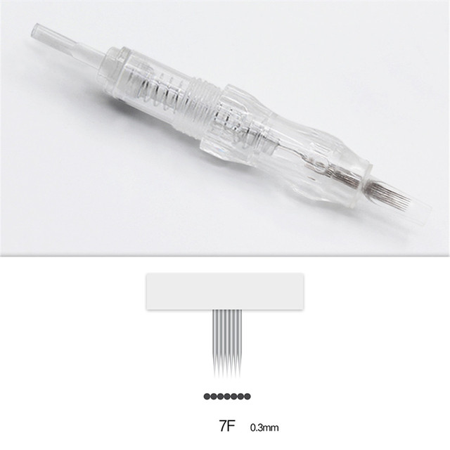 100pcs Cartridge Needle 3F 4F 5F 7F Permanent Microblading Needle Disposable for Eyebrow lip Makeup Pen Machine Needles Tips 4