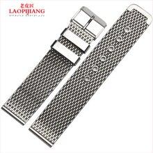 Liaopijiang venda de reloj de hombres y mujeres de acero inoxidable cuerdas ultra delgado moda de milán correa 20 / 22 / 24 / 26 mm